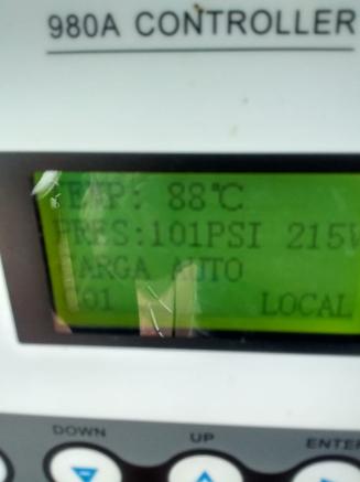 Indicador temperatura de compresor